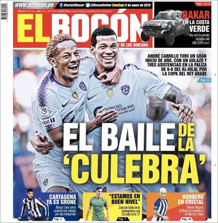 Periódico El Bocón Perú Periódicos De Perú Toda La Prensa De Hoy