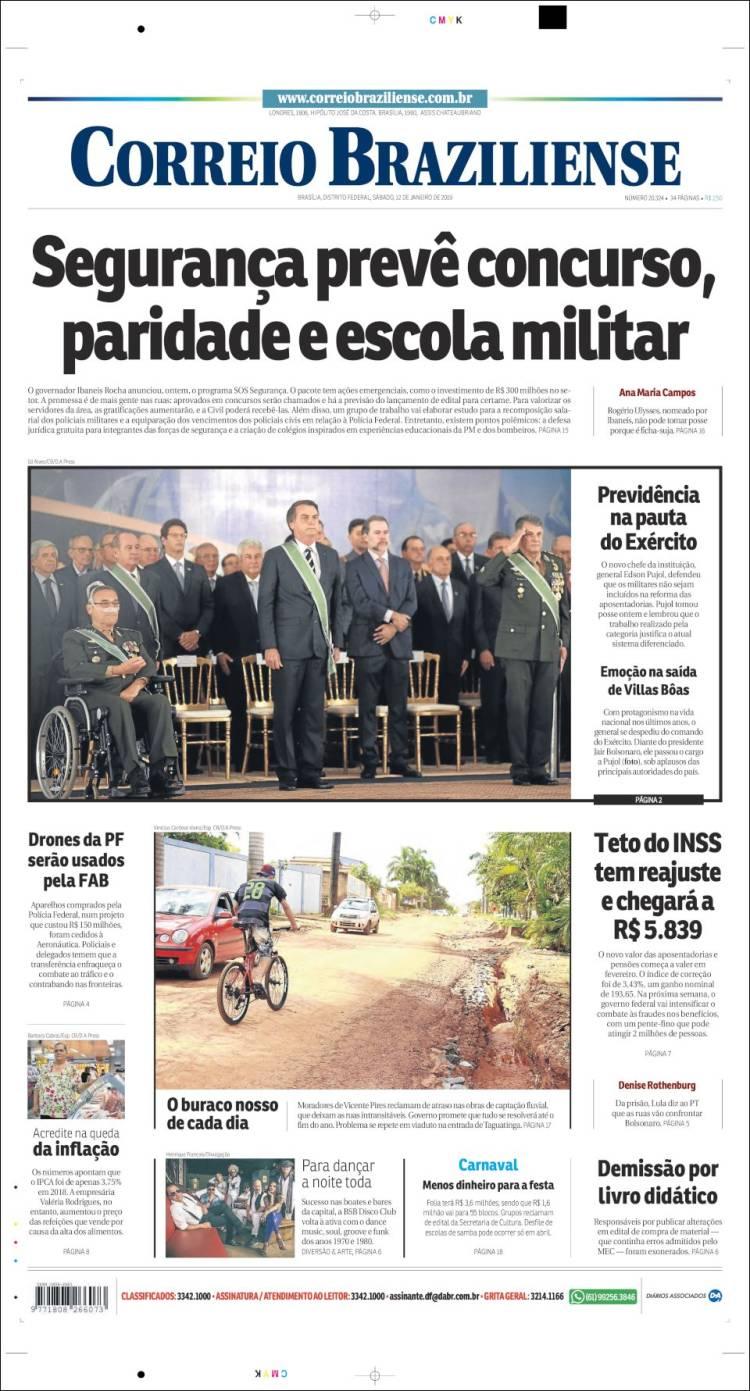 Portada de O Correio Brazilense (Brasil)