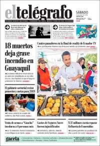 Portada de El Telégrafo (Ecuador)