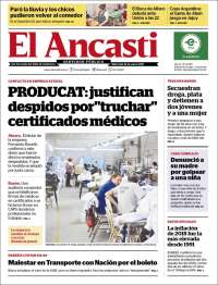 Portada de El Ancasti (Argentine)