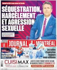 Portada de Le Journal de Montréal (Canada)