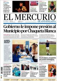 Portada de El Mercurio de Antofagasta (Chili)