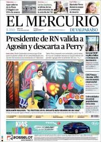 Portada de Mercurio de Valparaiso (Chili)