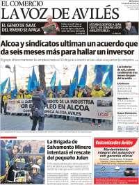 Portada de El Comercio - Avilés (Spain)