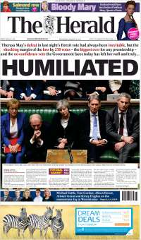 Portada de The Herald (Royaume-Uni)