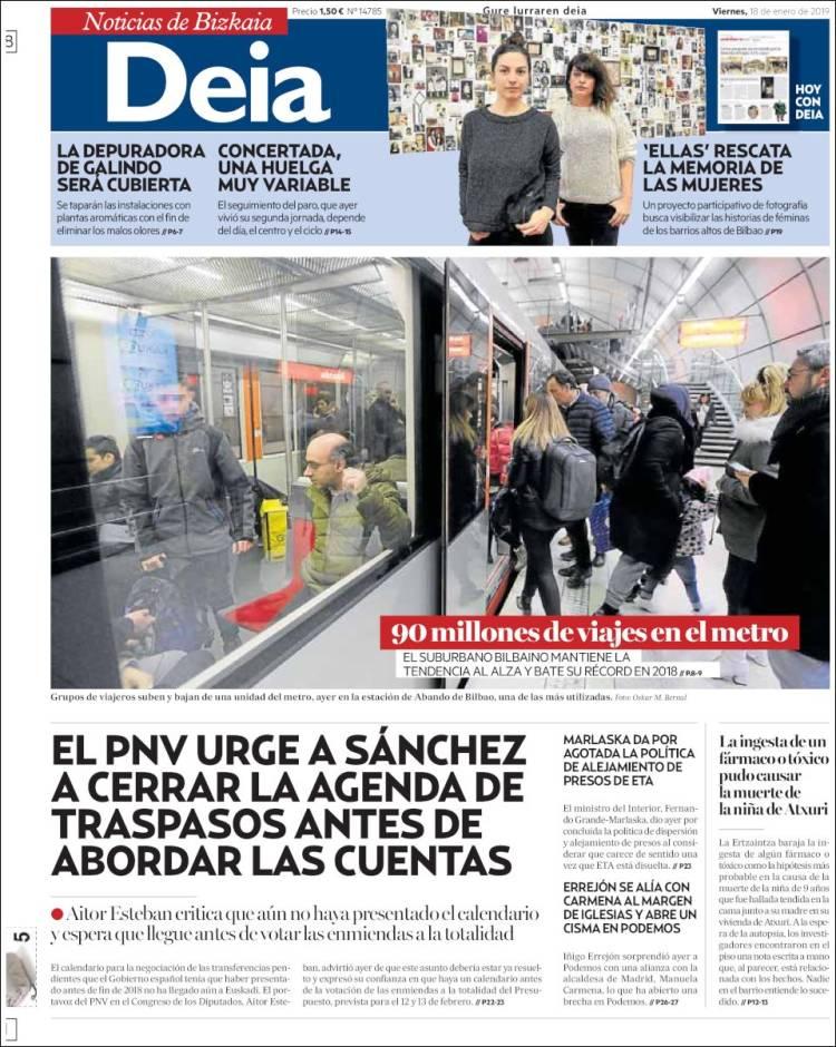 Portada de Deia (España)