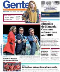 Portada de Gente en Madrid (España)