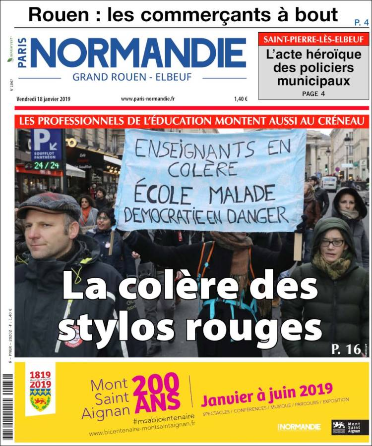 Portada de Paris Normandie (Francia)