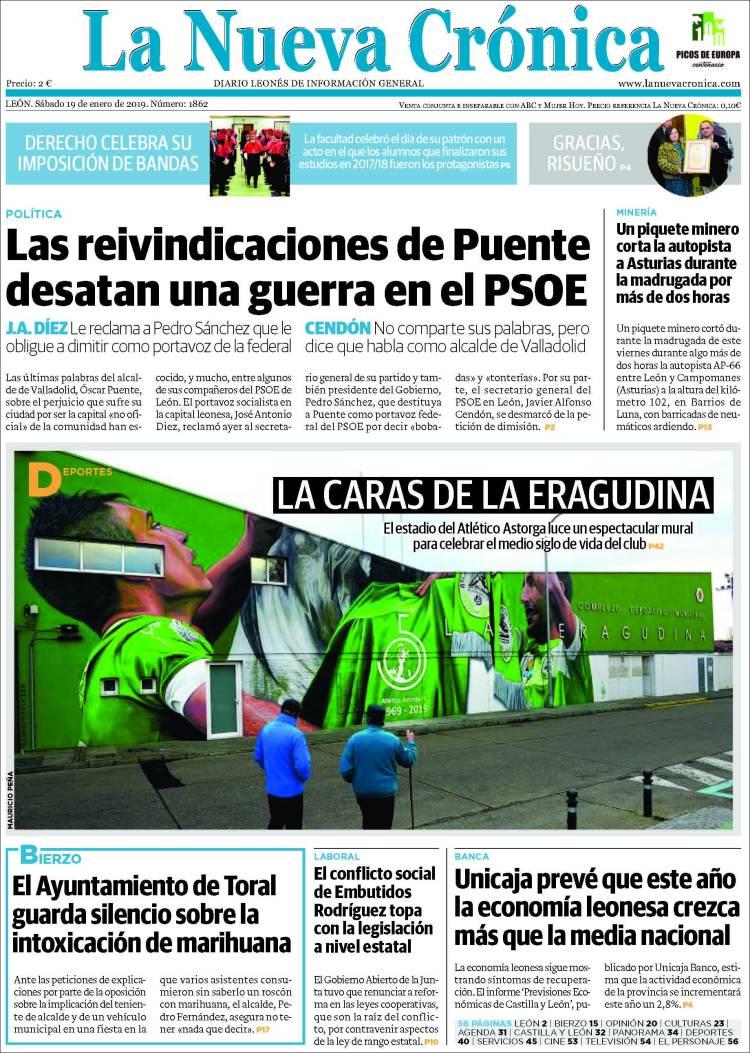 Portada de La Nueva Crónica (España)