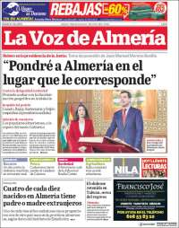 Portada de La Voz de Almería (España)