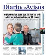Portada de Diarios de Avisos (España)