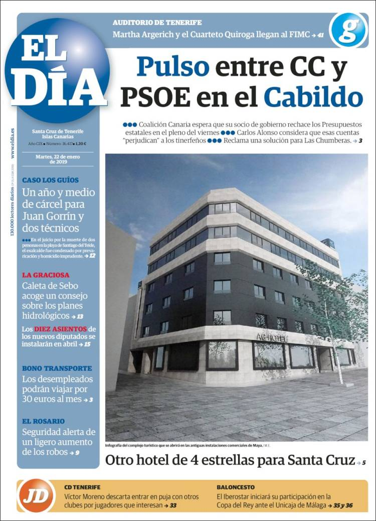 Portada de El Día (España)