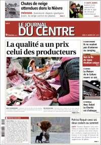 Portada de Le Journal du Centre (Francia)