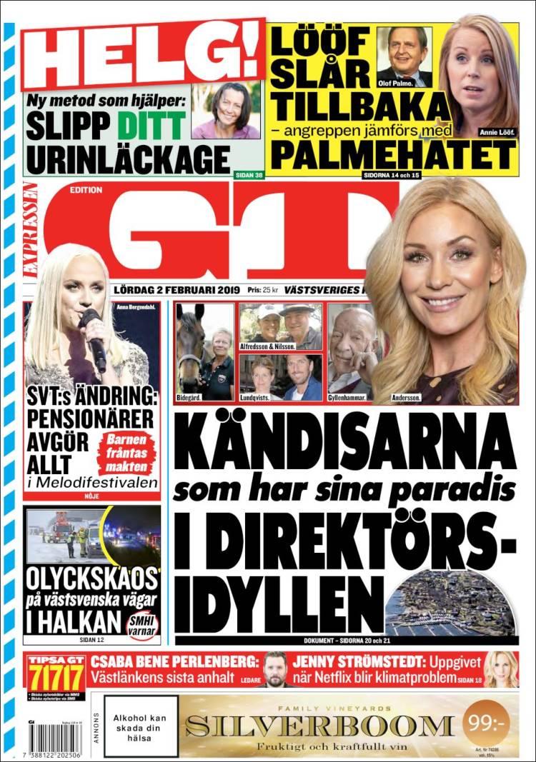 Portada de Göteborgstidningen (Suecia)