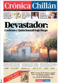 Portada de Crónica Chillán (Chile)