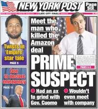 Portada de New York Post (États-Unis)