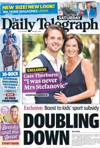 Portada de The Daily Telegraph (Australie)