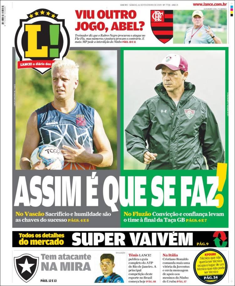 Portada de Lance! (Brésil)