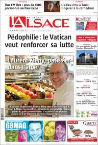 Portada de Journal L'Alsace (France)