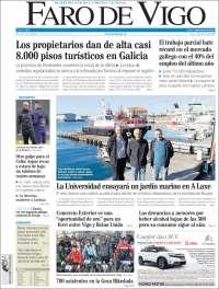 Portada de Faro de Vigo (España)