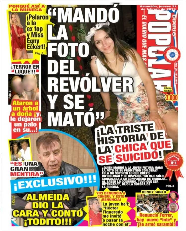 Portada de Diario Popular (Paraguay)