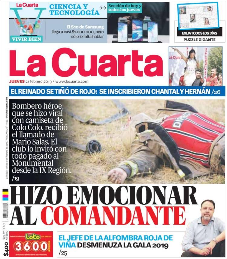 Periódico La Cuarta (Chile). Periódicos de Chile. Toda la prensa de ...