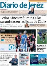 Portada de Diario de Jerez (España)