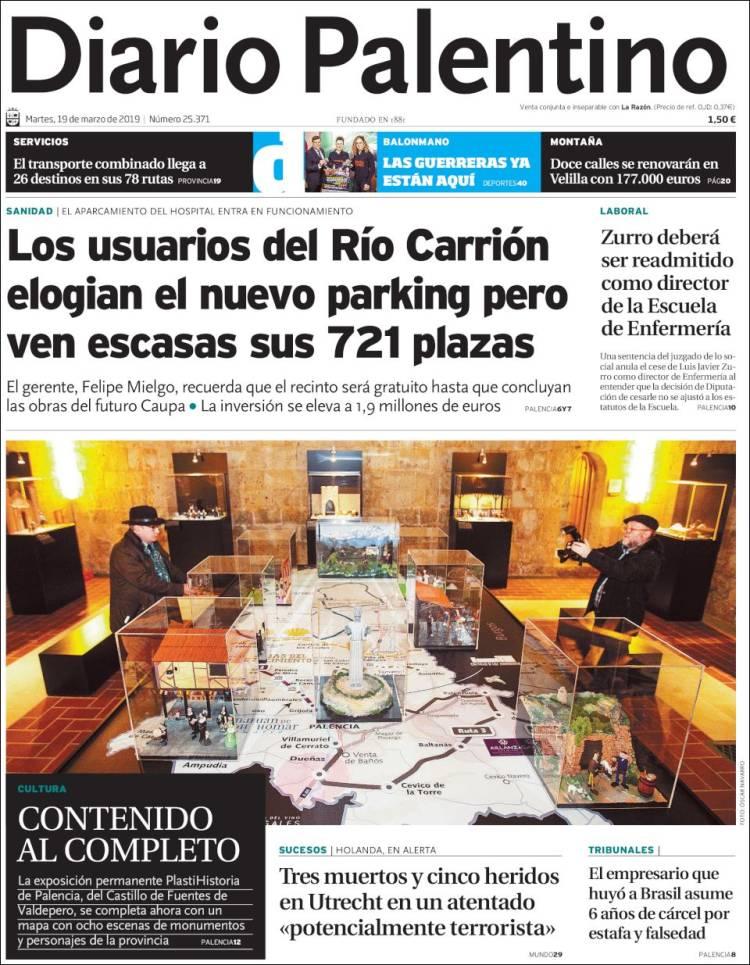 Portada de Diario Palentino (España)