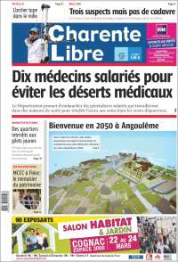 Portada de Charente Libre (France)