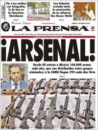 Portada de La Prensa (Mexique)
