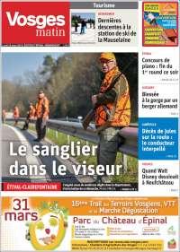 Portada de Vosges Matin (France)