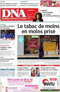 Portada de Les Dernières Nouvelles d'Alsace (Francia)