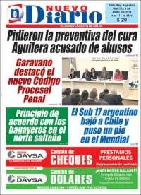 Portada de Nuevo Diario de Salta (Argentina)