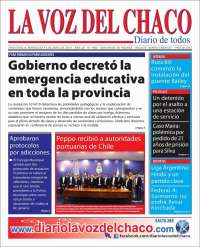 Portada de La Voz del Chaco (Argentina)