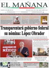 Portada de El Mañana de Toluca (Mexique)