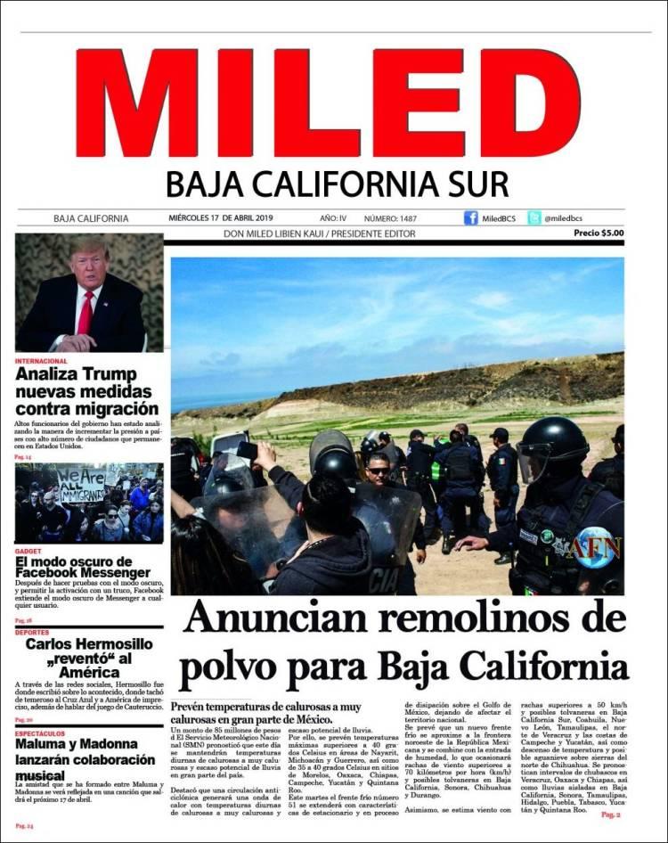 Portada de Miled - Baja California Sur (Mexique)