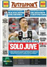 Portada de Tuttosport (Italy)