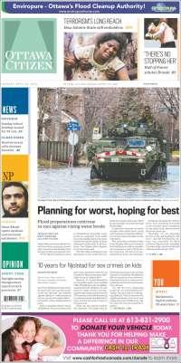 Portada de Ottawa Citizen (Canadá)