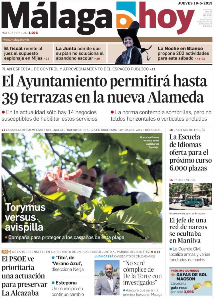 Periódico Málaga Hoy España Periódicos De España Edición