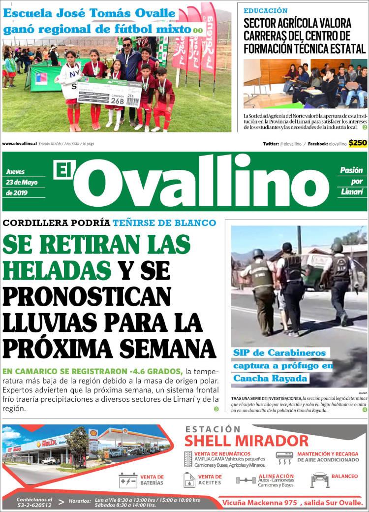 Portada de El Ovallino (Chile)