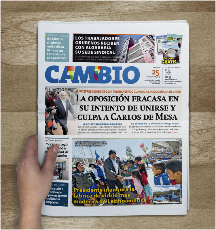Portada de Cambio (Bolivie)