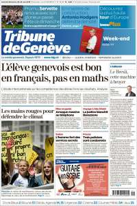 Portada de La Tribune de Genève (Switzerland)