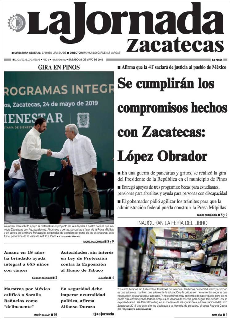 Portada de Jornada de Zacatecas (Mexico)