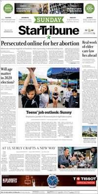 Portada de Star Tribune (États-Unis)