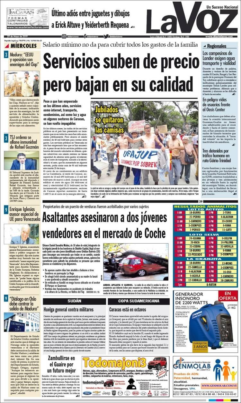 41bf00b51 Periódico Diario La Voz (Venezuela). Periódicos de Venezuela. Toda ...