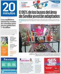 Portada de 20 Minutos - Sevilla (España)