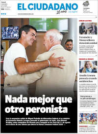 Portada de Diario El Ciudadano y la Región (Argentina)