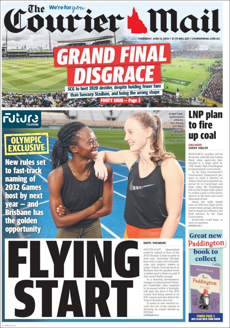 Portada de The Courier-Mail (Australia)