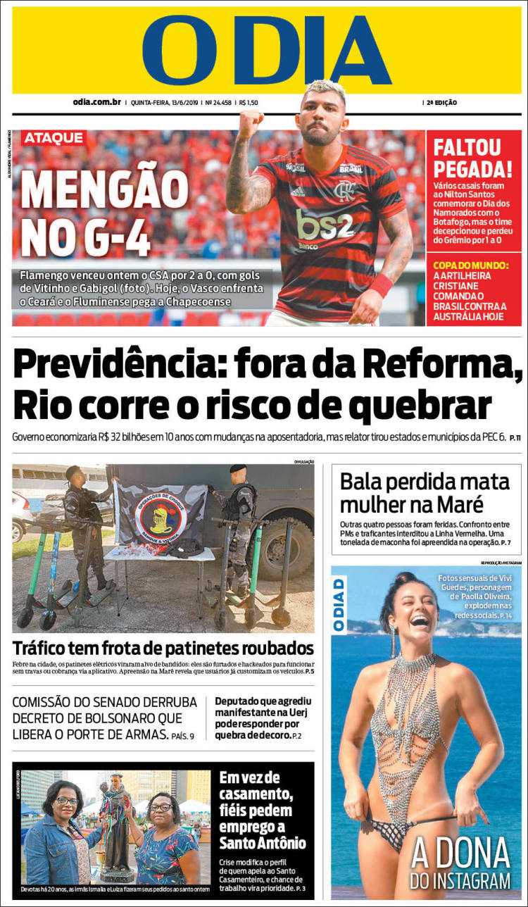 Portada de O Dia (Brasil)