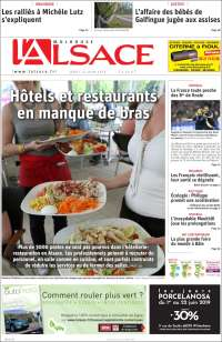 Portada de Journal L'Alsace (Francia)